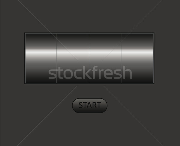 Vazio contrariar vetor lata próprio texto Foto stock © X-etra