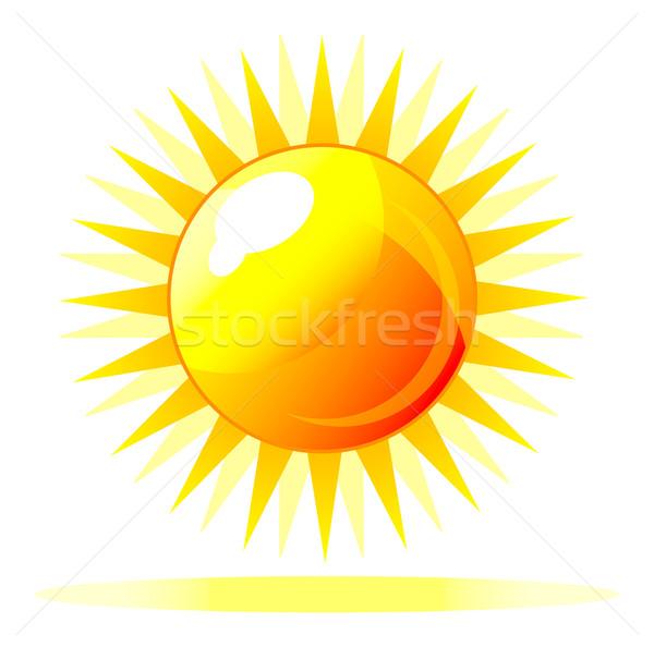 Abstrato vetor brilhante sol ícone reflexão Foto stock © X-etra