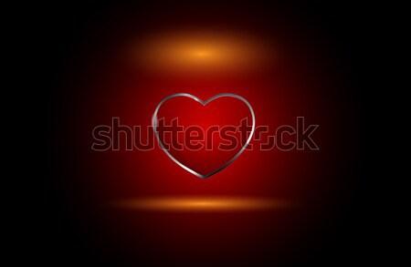 Vettore vetro cuore bella rosso colore Foto d'archivio © X-etra