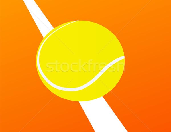 Foto d'archivio: Palla · da · tennis · piedi · arancione · giudice · sport · palla