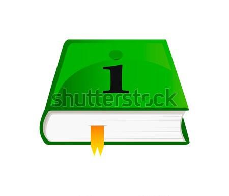 Vetor ícone informação livro belo verde Foto stock © X-etra