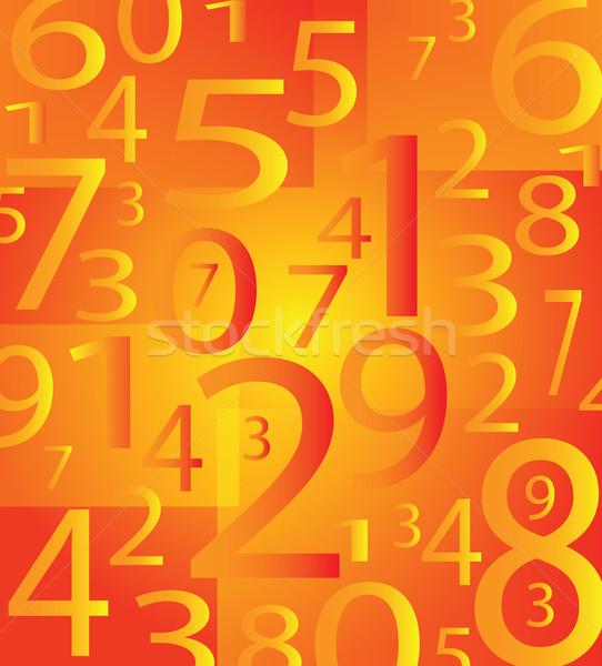 Számok szép szám narancs szín számítógép Stock fotó © X-etra