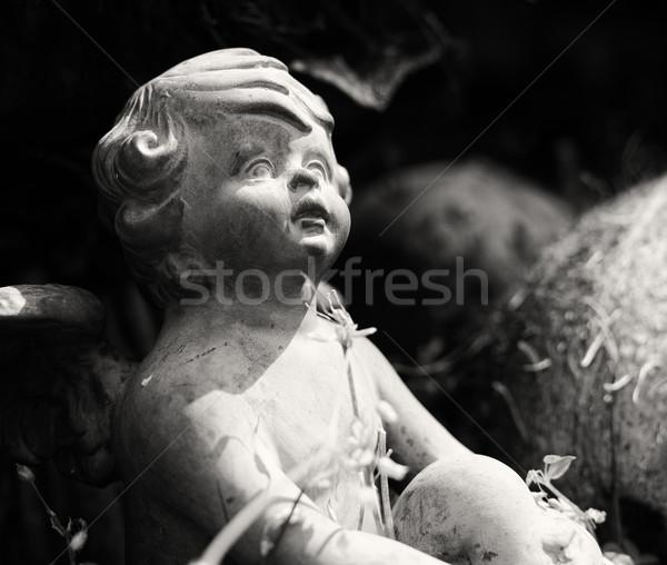 ангела саду красивой мало статуя подробность Сток-фото © X-etra