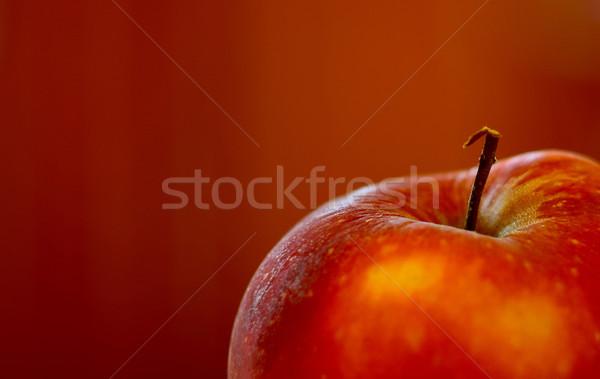 Mela dettaglio frutta fresca mela rossa isolato natura Foto d'archivio © X-etra