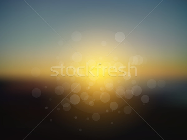Vetor abstrato sol férias turva pôr do sol Foto stock © X-etra