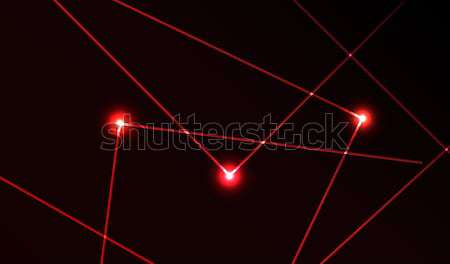 Groene laser show vector mooie lichtgroen Stockfoto © X-etra