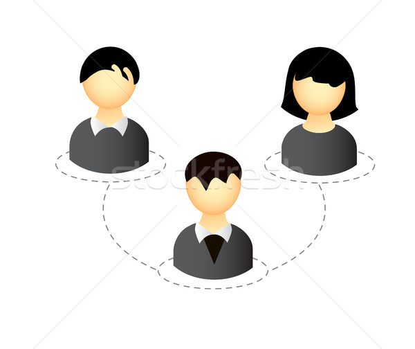 Vetor pessoas de negócios ícone conexão isolado branco Foto stock © X-etra
