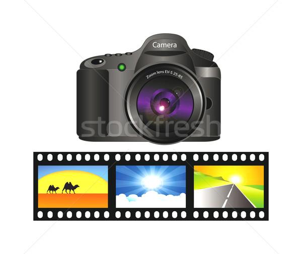 3D vettore fotocamera realistico illustrazione 3d isolato Foto d'archivio © X-etra