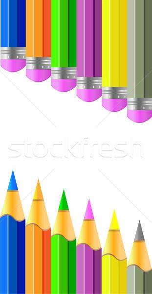 Vetor lápis colorido lápis criador idéia Foto stock © X-etra