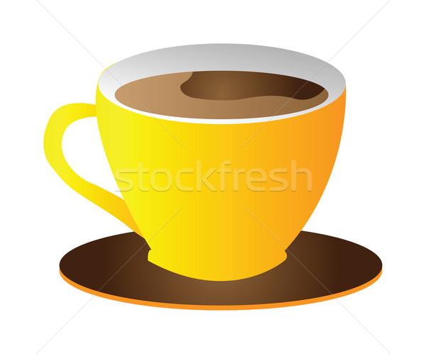Csésze kávéscsésze kávé izolált fehér háttér Stock fotó © X-etra