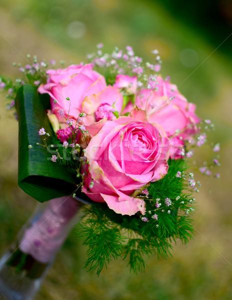 Buquê rosas pormenor jardim verão tempo Foto stock © X-etra