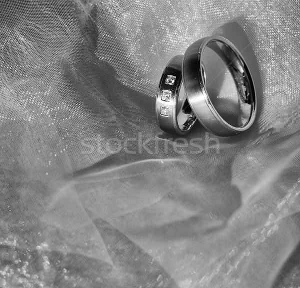 Fedi nuziali due nice amore segno vita Foto d'archivio © X-etra
