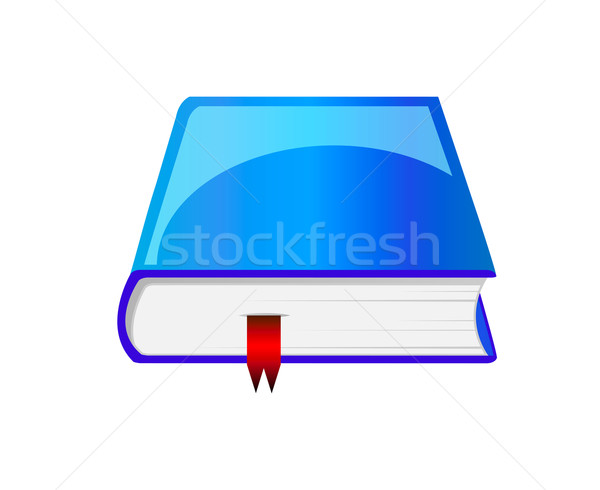 Vector blue book with bookmark Stock photo © X-etra