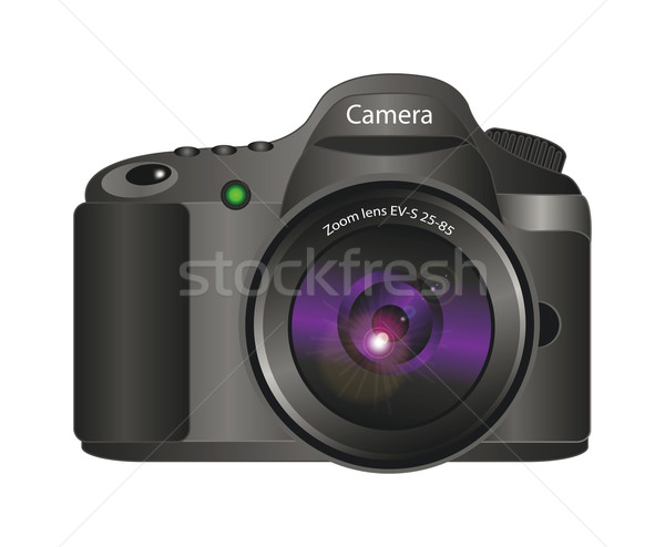 3D vetor câmera realista ilustração 3d isolado Foto stock © X-etra