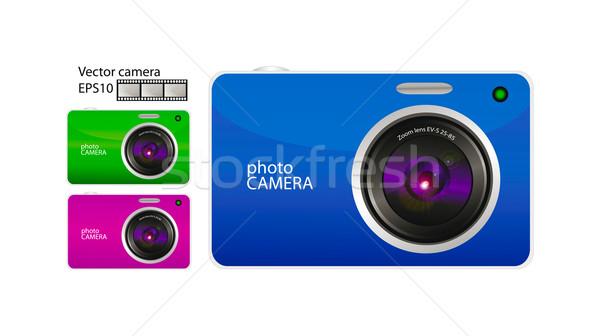 Vetor câmera 3D conjunto foto isolado Foto stock © X-etra