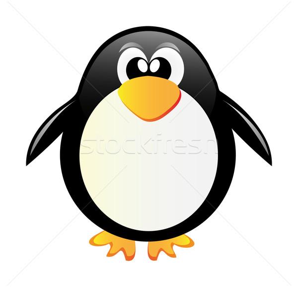 Pingvin szép illusztráció hó szépség művészet Stock fotó © X-etra