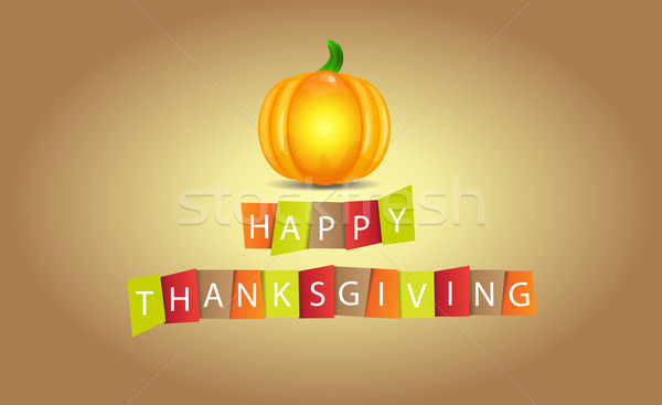 Colorful paper tags or labels with Thanksgiving theme Stock photo © X-etra