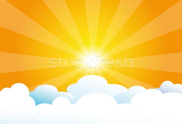 Cielo sole nubi abstract bellezza estate Foto d'archivio © X-etra