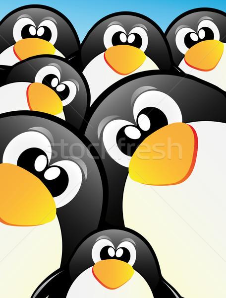 Pinguim bom ilustração neve beleza arte Foto stock © X-etra