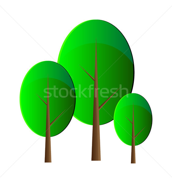 Vector trees Stock photo © X-etra