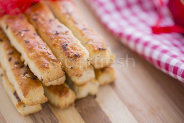 Ekmek tuzlu susam tohumları hazır yeni Stok fotoğraf © x3mwoman