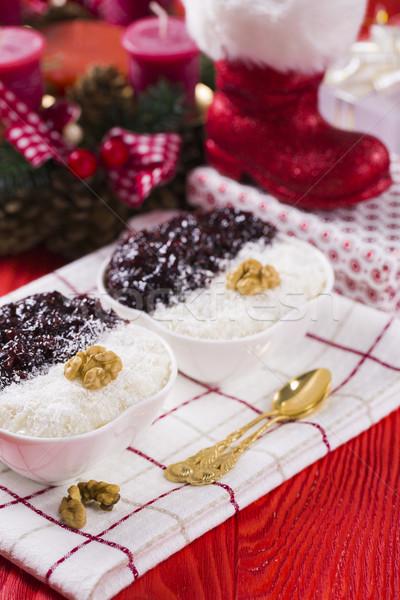 клубника Jam орехи Новый год украшение Сток-фото © x3mwoman