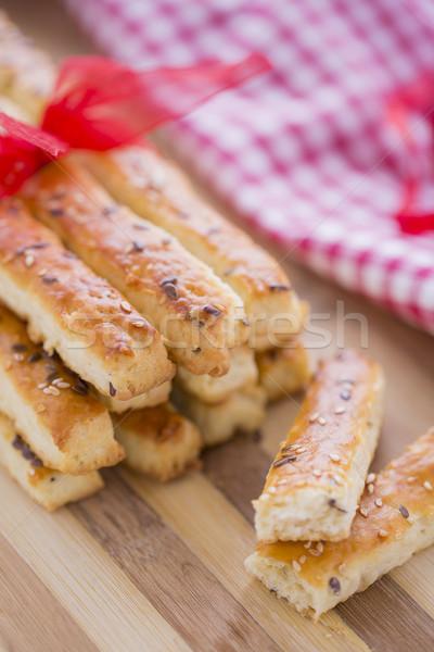 Pan salado sésamo semillas preparado nuevos Foto stock © x3mwoman