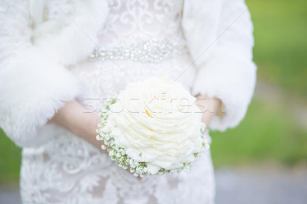 невеста букет свадьба день цветок Сток-фото © x3mwoman