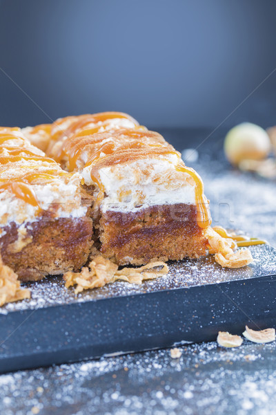 Maçã bolo caramelo canela raio Foto stock © x3mwoman