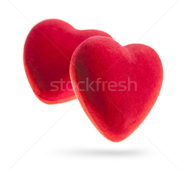 Red hearts isolated on white background. Stock photo © xamtiw