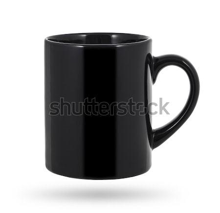 Black mug isolated on a white background Stock photo © xamtiw