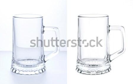 Empty beer mug isolated on white background Stock photo © xamtiw