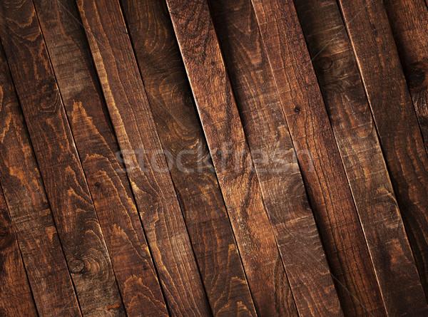 Dark wooden brown planks, texture or background Stock photo © xamtiw