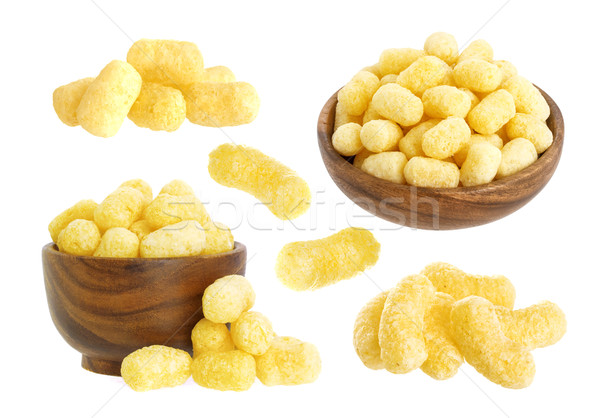 Corn sticks isolated on white background Stock photo © xamtiw