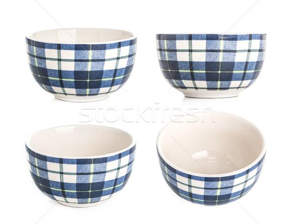salad bowl isolated on white background Stock photo © xamtiw