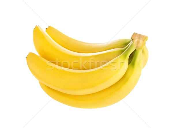 Bunch of bananas isolated on white background Stock photo © xamtiw