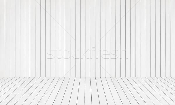 White background of wooden planks vor product Stock photo © xamtiw