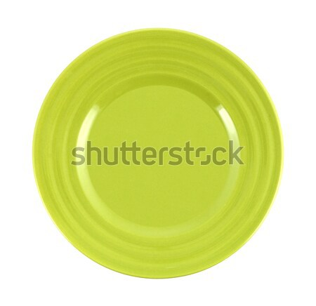 empty green plate on white background Stock photo © xamtiw