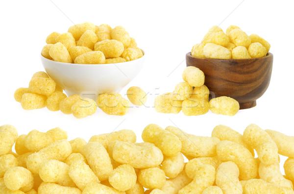 Corn sticks on white background Stock photo © xamtiw