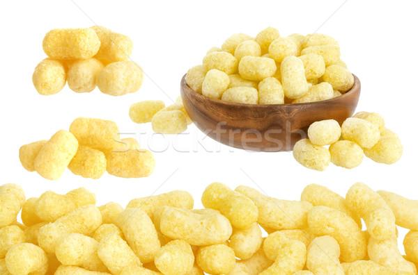 Corn sticks on white Stock photo © xamtiw