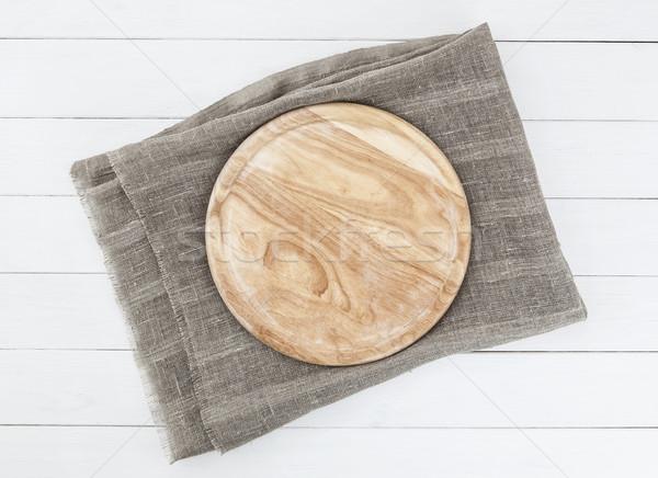 cutting board on wooden table Stock photo © xamtiw