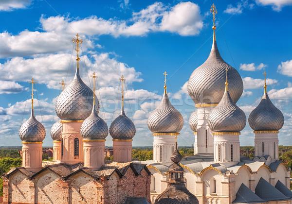 Russo ortodoxo igreja prata tradicional dourado Foto stock © Xantana
