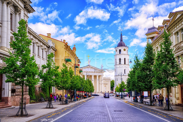 Gediminas Avenue and Cathedral square, Vilnius, Lithuania Stock photo © Xantana