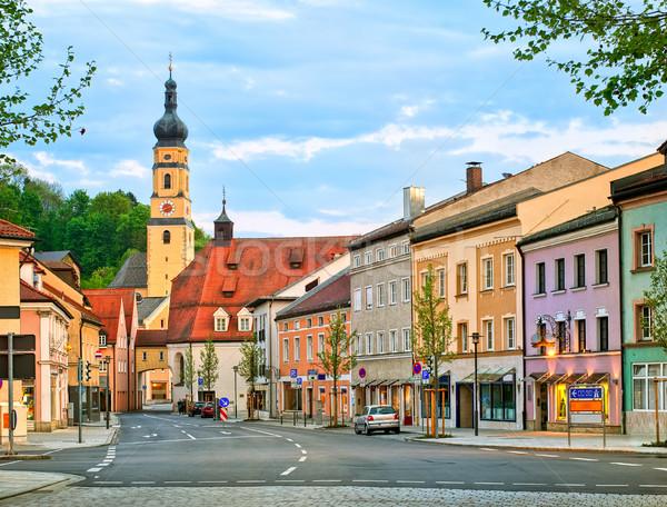 красочный Готский домах города Германия старые Сток-фото © Xantana