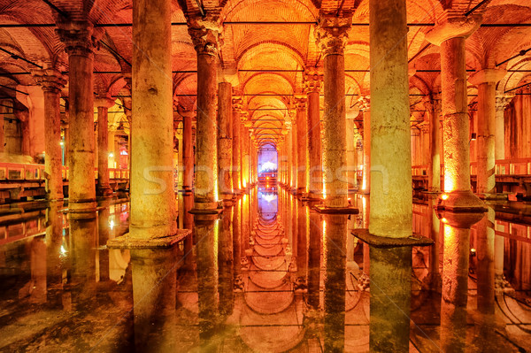 The Basilica Cistern, Istanbul, Turkey Stock photo © Xantana