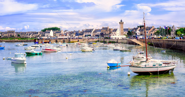 Fisherman's boats in the harbour of Roscoff, Brittany, France Stock photo © Xantana