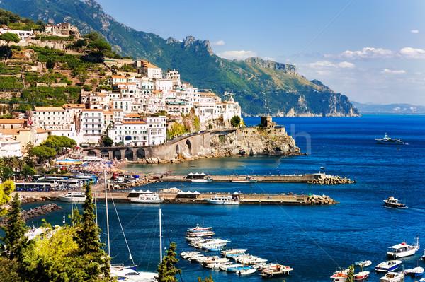 Amalfi town on Mediterranean Sea, Naples, Italy Stock photo © Xantana
