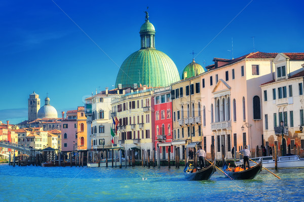 運河 ヴェネツィア イタリア カラフル 光 教会 ストックフォト © Xantana