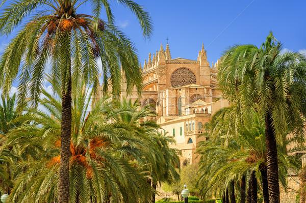 La Seu, medieval gothic cathedral, Palma de Mallorca, Spain Stock photo © Xantana
