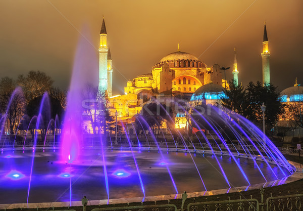 View of Hagia Sophia from Sultanahmet park, Istanbul, Turkey Stock photo © Xantana